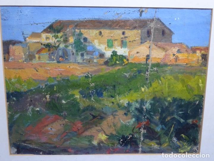ÓLEO ANONIMO SOBRE TELA CIRCULO JOAQUIN MIR.GRAN COLORIDO Y BUEN TRAZO. (Arte - Pintura - Pintura al Óleo Contemporánea )
