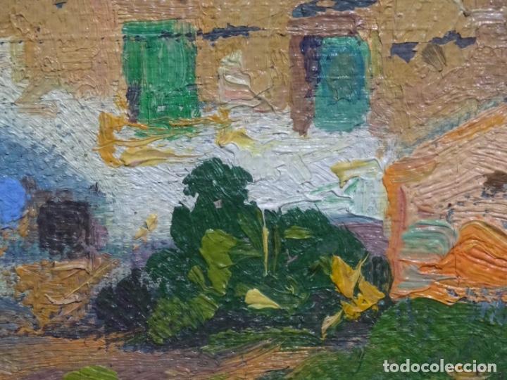 Arte: ÓLEO ANONIMO SOBRE TELA CIRCULO JOAQUIN MIR.GRAN COLORIDO Y BUEN TRAZO. - Foto 11 - 231779275