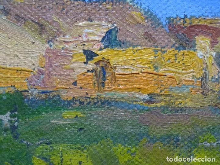Arte: ÓLEO ANONIMO SOBRE TELA CIRCULO JOAQUIN MIR.GRAN COLORIDO Y BUEN TRAZO. - Foto 12 - 231779275