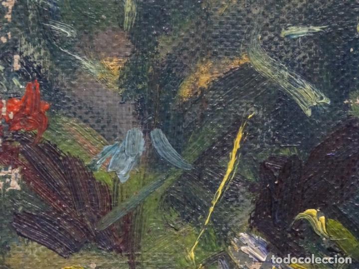 Arte: ÓLEO ANONIMO SOBRE TELA CIRCULO JOAQUIN MIR.GRAN COLORIDO Y BUEN TRAZO. - Foto 14 - 231779275