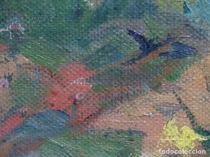 Arte: ÓLEO ANONIMO SOBRE TELA CIRCULO JOAQUIN MIR.GRAN COLORIDO Y BUEN TRAZO. - Foto 17 - 231779275