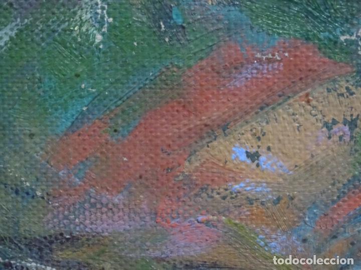 Arte: ÓLEO ANONIMO SOBRE TELA CIRCULO JOAQUIN MIR.GRAN COLORIDO Y BUEN TRAZO. - Foto 18 - 231779275