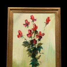 Arte: MAGNFICO RAMO DE FLORES ROJAS ,JOSEP MIQUEL SERRANO. Lote 231898000