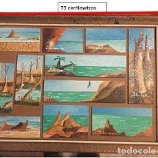 Arte: 11 PAISAJES DE CABO DE GATA. ALMERIA. OLEOS DE JULIO SERRANO. Lote 231949125