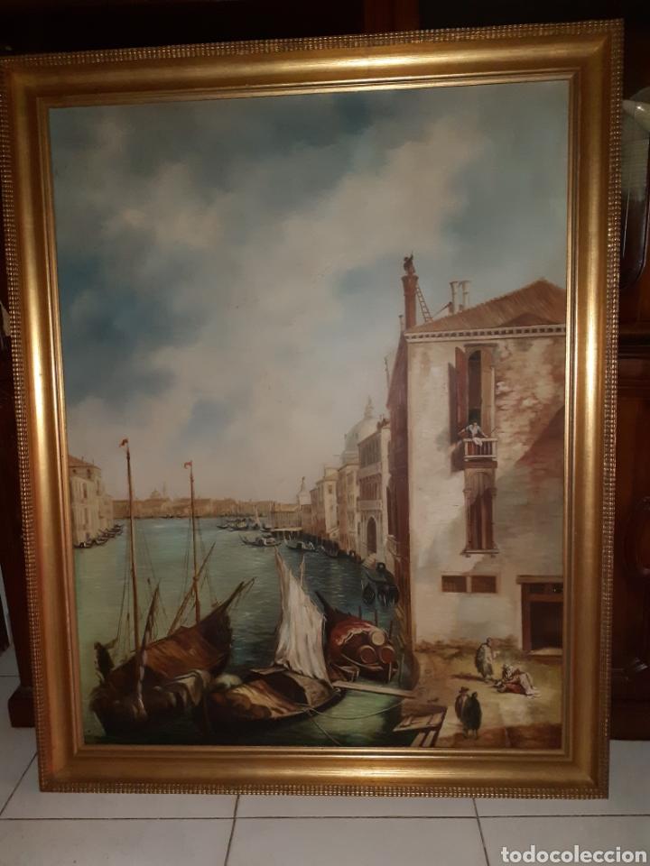 CUADRO OLEO SOBRE LIENZO, VENECIA, GRANDE 1,03 X 130 M, CALIDAD. (Arte - Pintura - Pintura al Óleo Contemporánea )