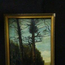 Arte: ANTIGUA PINTURA ,OLEO SOBRE LIENZO ,PISAJE SIGLO XIX ,. Lote 232132900