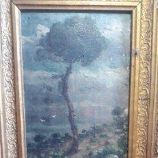 Arte: PINTURA AL OLEO ATRIBUIDA A LAMBERTO ALONSO TORRES,OLEO SOBRE TABLA. Lote 232167795