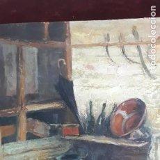 Arte: FRANCISCO RODRIGO RAUSELL PINTOR VALENCIANO,INTERIOR CASA DE PUEBLO,OLEO SOBRE LIENZO. Lote 285263253