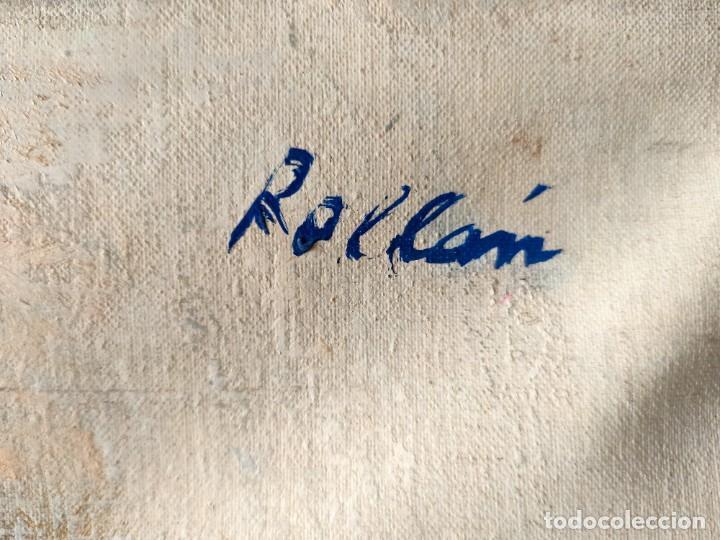 Arte: JORDI ROLLAN LAHOZ (BARCELONA 1940) OLEO SOBRE TELA PAISAJE URBANO GRAN TAMAÑO - Foto 3 - 232255405