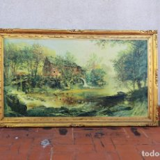 Arte: ÓLEO SOBRE LIENZO JASPER FRANCIS CROPSEY 1876 THE OLD MILL. Lote 232429215
