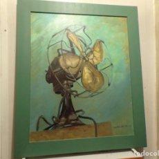Arte: OLEO SOBRE TELA VENTILADOR RAFAEL CASAS. Lote 232571615
