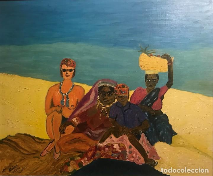 LOLA EN GOA INDIA (1991) (Arte - Pintura Directa del Autor)