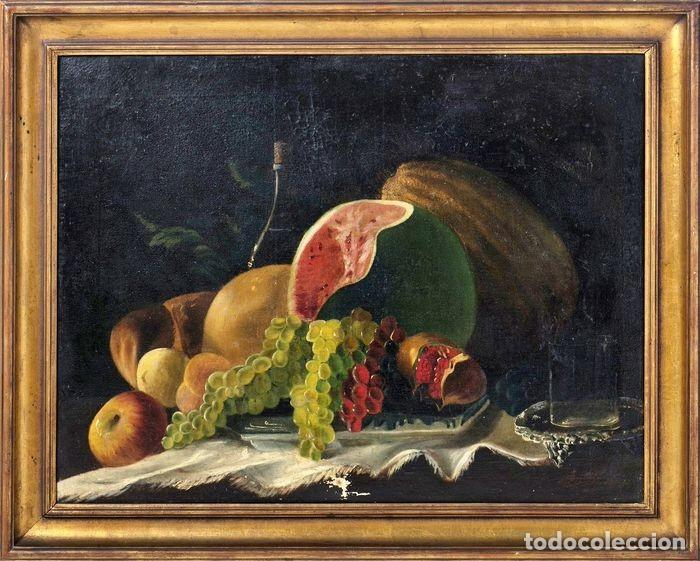 BODEGON ESPAÑOL SIGLO XIX (Arte - Pintura - Pintura al Óleo Antigua sin fecha definida)