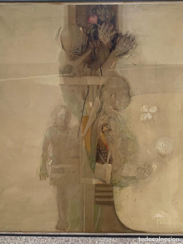 Arte: OLEO LIENZO COMPOSICION NIÑOS FLORES 135X167CMS JUAN GUTIERREZ MONTIEL JEREZ DE LA FRONTERA - Foto 3 - 233240400