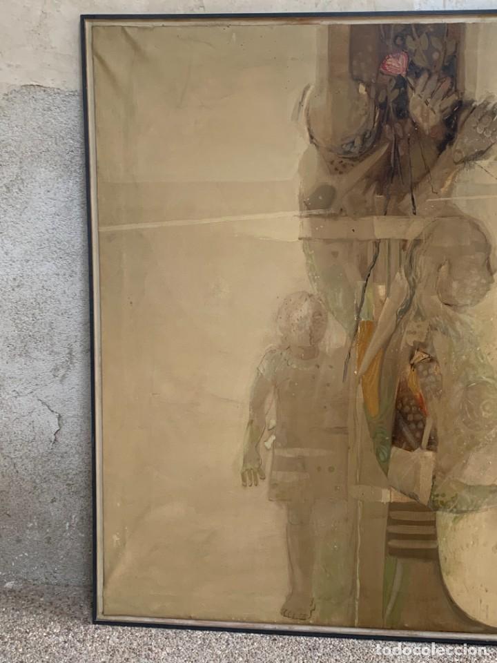 Arte: OLEO LIENZO COMPOSICION NIÑOS FLORES 135X167CMS JUAN GUTIERREZ MONTIEL JEREZ DE LA FRONTERA - Foto 4 - 233240400