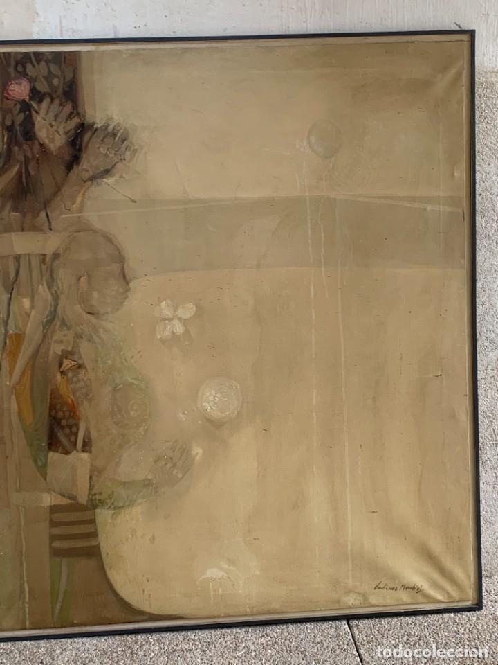 Arte: OLEO LIENZO COMPOSICION NIÑOS FLORES 135X167CMS JUAN GUTIERREZ MONTIEL JEREZ DE LA FRONTERA - Foto 5 - 233240400