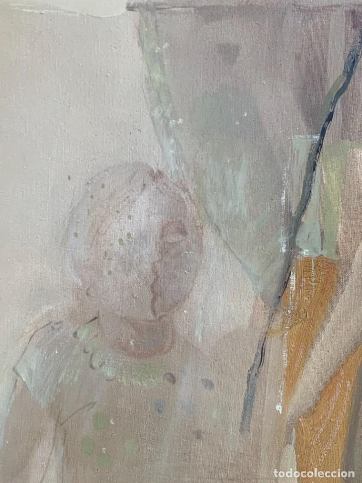 Arte: OLEO LIENZO COMPOSICION NIÑOS FLORES 135X167CMS JUAN GUTIERREZ MONTIEL JEREZ DE LA FRONTERA - Foto 15 - 233240400