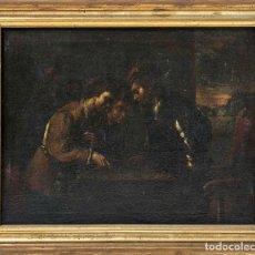 """Arte: ESCUELA HOLANDESA DEL SIGLO XVII-XVIII """" RECAUDADOR DE IMPUESTOS """". Lote 233265030"""