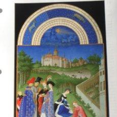 Arte: LÁMINA LES TRÉS RICHES HEURES DU DUC DE BERRY. PAUL, JEAN Y HERMAN LIMBOURG. Lote 233459135