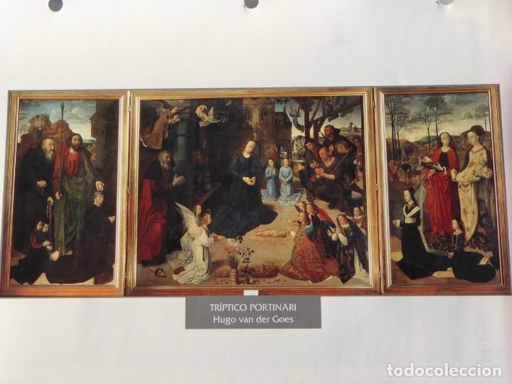 LÁMINA TRÍPTICO PORTINARI. HUGO VAN DER GOES (Arte - Pintura - Pintura al Óleo Antigua siglo XV)
