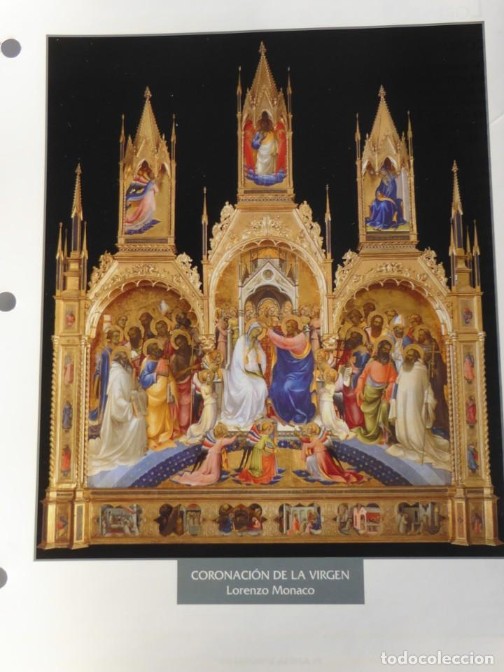 LÁMINA CORONACIÓN DE LA VIRGEN. LORENZO MONACO (Arte - Pintura - Pintura al Óleo Antigua siglo XV)