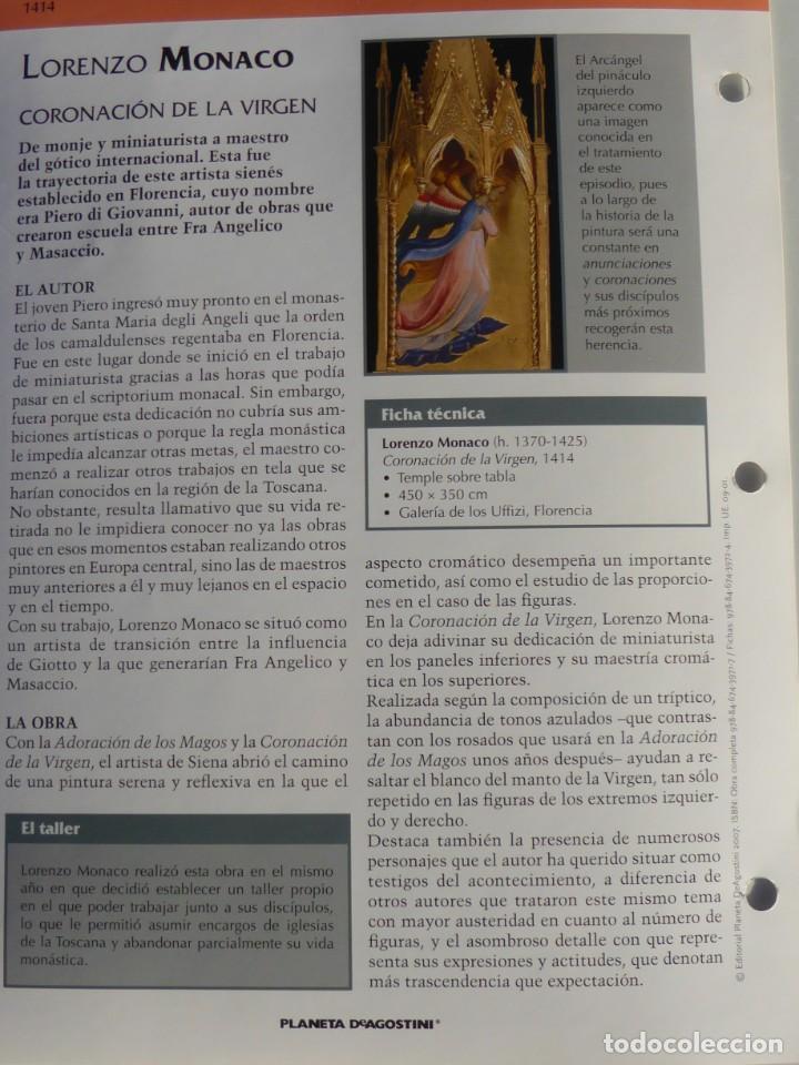 Arte: Lámina Coronación de la Virgen. Lorenzo Monaco - Foto 2 - 233459570