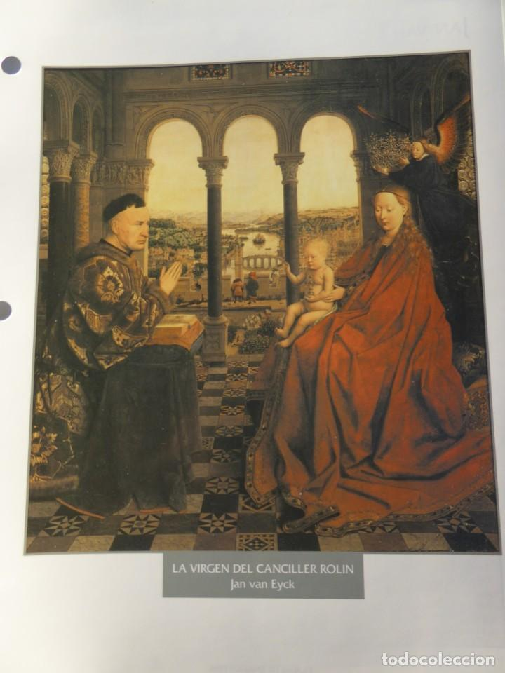 LÁMINA LA VIRGEN DEL CANCILLER ROLIN. JAN VAN EYCK (Arte - Pintura - Pintura al Óleo Antigua siglo XV)