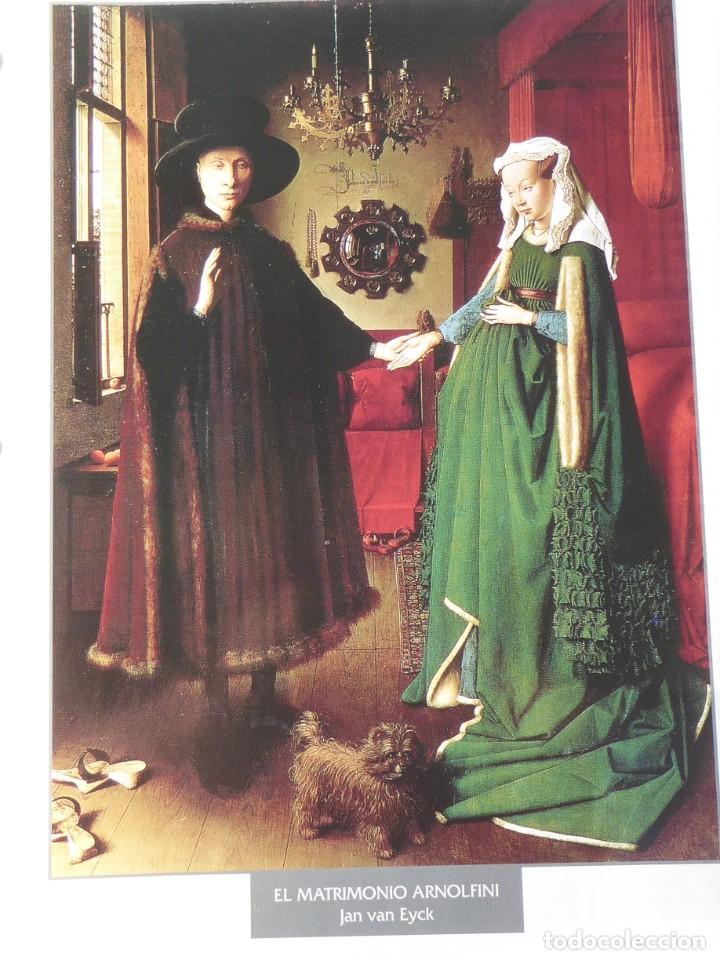 LÁMINA EL MATRIMONIO ARNOLFINI. JAN VAN EYCK (Arte - Pintura - Pintura al Óleo Antigua siglo XV)