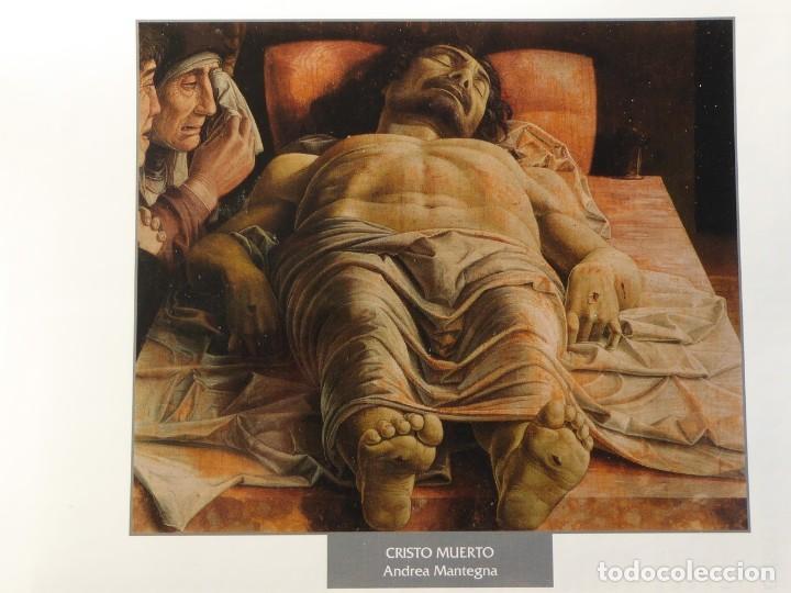 LÁMINA CRISTO MUERTO. ANDREA MANTEGNA (Arte - Pintura - Pintura al Óleo Antigua siglo XV)