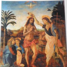 Arte: LÁMINA EL BAUTISMO DE CRISTO. ANDREA DE VERROCCHIO. Lote 233461415