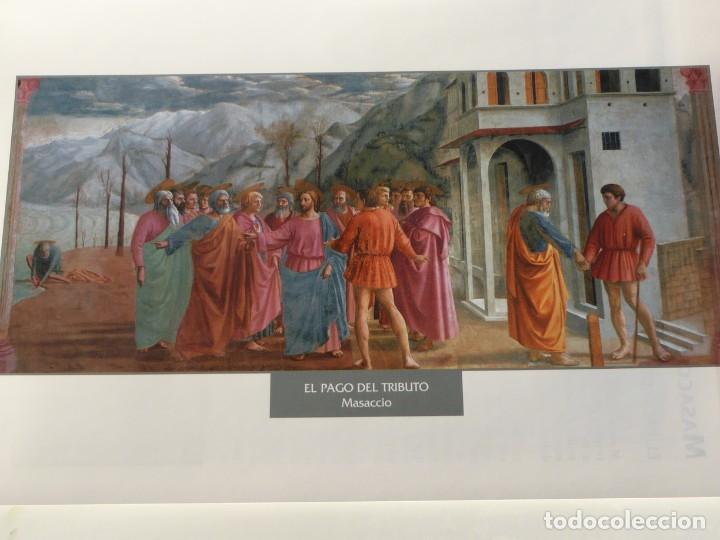 LÁMINA EL PAGO DEL TRIBUTO. MASACCIO (Arte - Pintura - Pintura al Óleo Antigua siglo XV)