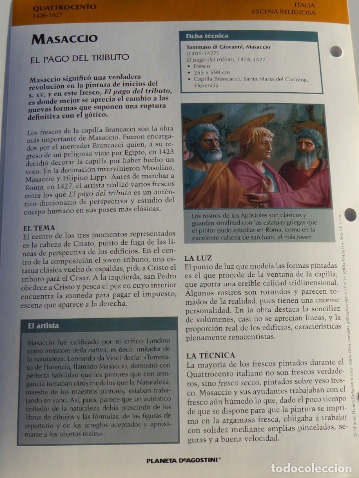 Arte: Lámina El Pago del Tributo. Masaccio - Foto 2 - 233461460