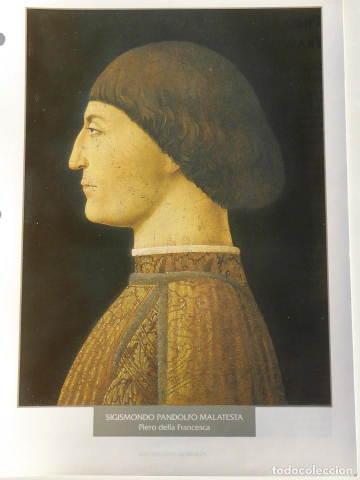 LÁMINA SIGISMONDO PANDOLFO MALATESTA. PIERO DELLA FRANCESCA (Arte - Pintura - Pintura al Óleo Antigua siglo XV)