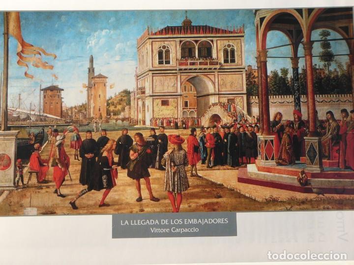 LÁMINA LA LLEGADA DE LOS EMBAJADORES. VITTORE CARPACCIO (Arte - Pintura - Pintura al Óleo Antigua siglo XV)