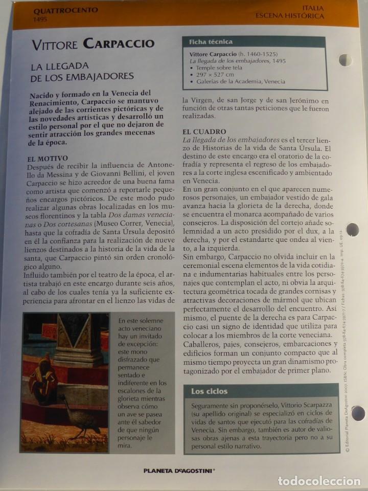 Arte: Lámina La llegada de los embajadores. Vittore Carpaccio - Foto 2 - 233461960
