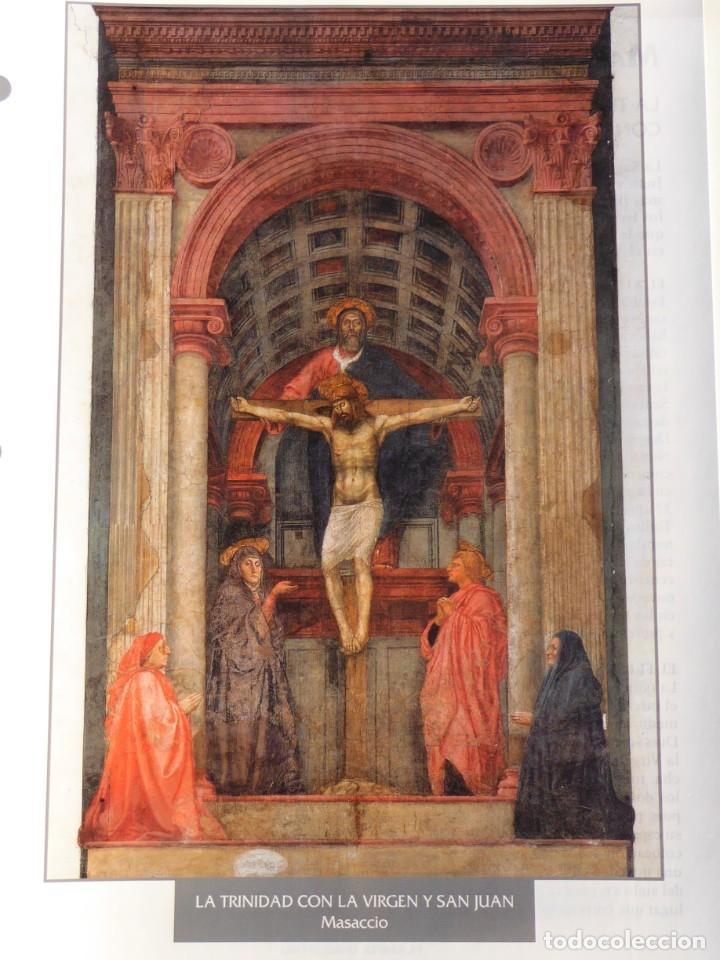 LÁMINA LA TRINIDAD CON LA VIRGEN Y SAN JUAN. MASACCIO (Arte - Pintura - Pintura al Óleo Antigua siglo XV)