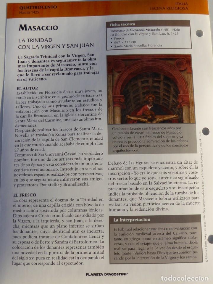 Arte: Lámina La Trinidad con la Virgen y San Juan. Masaccio - Foto 2 - 233462005