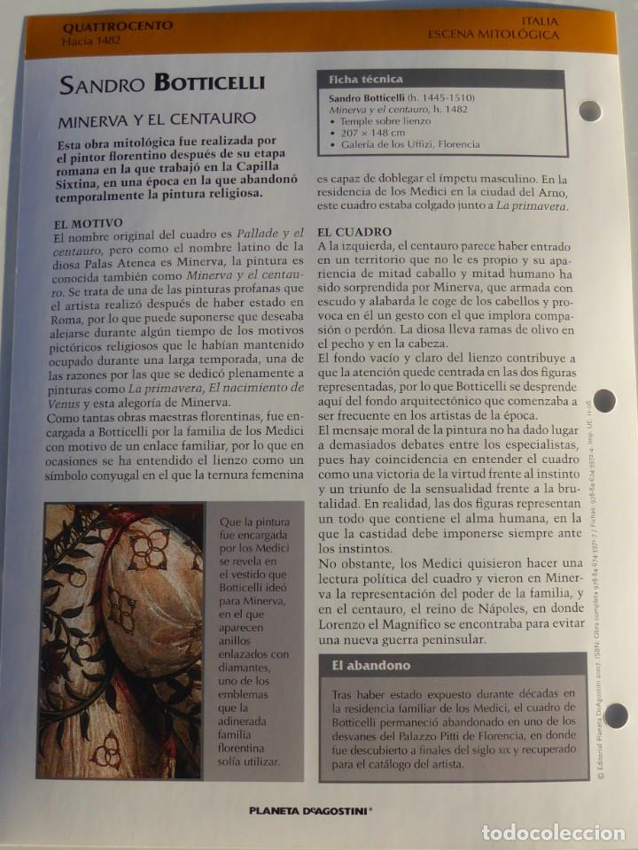 Arte: Lámina Minerva y el Centauro. Sandro Boticcelli - Foto 2 - 233462085
