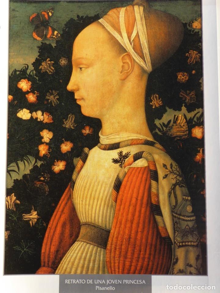 LÁMINA RETRATO DE UNA JOVEN PRINCESA. PISANELLO (Arte - Pintura - Pintura al Óleo Antigua siglo XV)