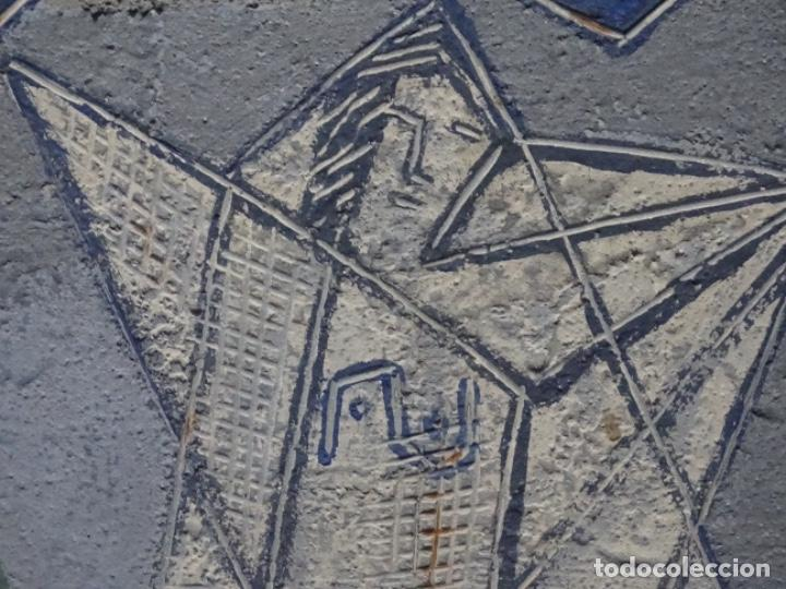 Arte: GRAN ÓLEO SOBRE TABLA DE JACINT MORERA, PINTOR AFINCADO EN TERRASSA.VIDA DE SANT JOAN.1956 - Foto 17 - 233609735