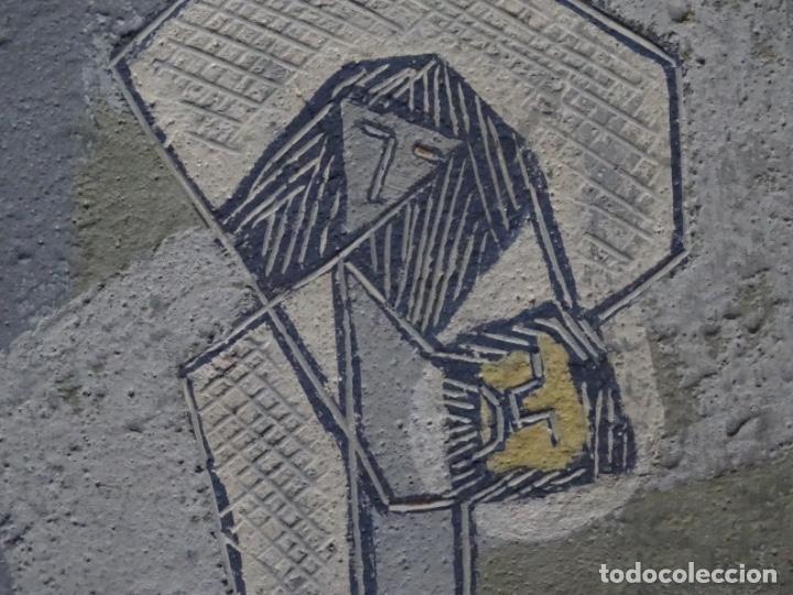 Arte: GRAN ÓLEO SOBRE TABLA DE JACINT MORERA, PINTOR AFINCADO EN TERRASSA.VIDA DE SANT JOAN.1956 - Foto 18 - 233609735