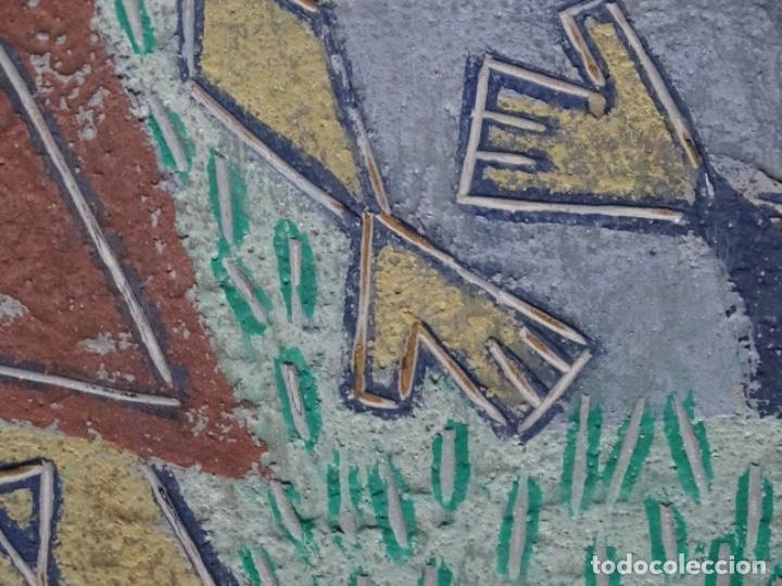 Arte: GRAN ÓLEO SOBRE TABLA DE JACINT MORERA, PINTOR AFINCADO EN TERRASSA.VIDA DE SANT JOAN.1956 - Foto 21 - 233609735