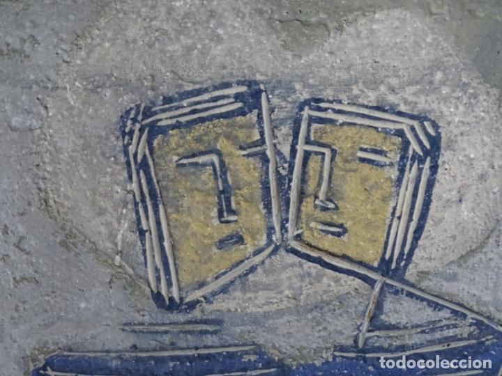 Arte: GRAN ÓLEO SOBRE TABLA DE JACINT MORERA, PINTOR AFINCADO EN TERRASSA.VIDA DE SANT JOAN.1956 - Foto 23 - 233609735