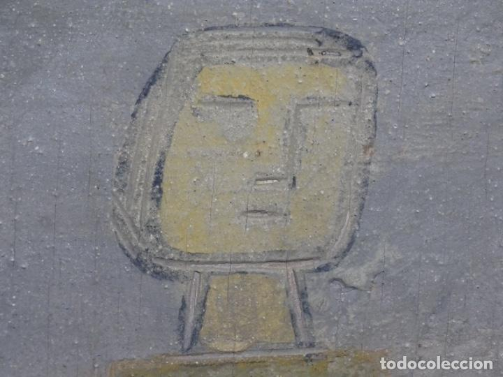 Arte: GRAN ÓLEO SOBRE TABLA DE JACINT MORERA, PINTOR AFINCADO EN TERRASSA.VIDA DE SANT JOAN.1956 - Foto 25 - 233609735