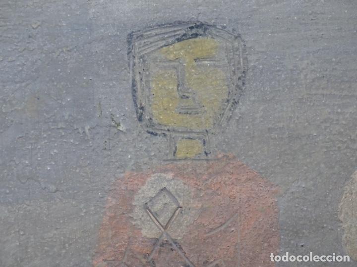 Arte: GRAN ÓLEO SOBRE TABLA DE JACINT MORERA, PINTOR AFINCADO EN TERRASSA.VIDA DE SANT JOAN.1956 - Foto 28 - 233609735