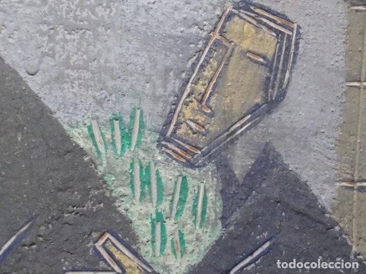 Arte: GRAN ÓLEO SOBRE TABLA DE JACINT MORERA, PINTOR AFINCADO EN TERRASSA.VIDA DE SANT JOAN.1956 - Foto 31 - 233609735