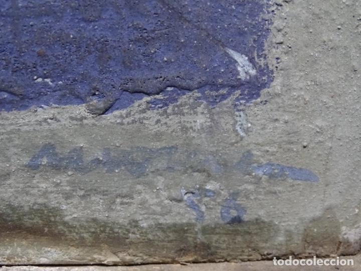 Arte: GRAN ÓLEO SOBRE TABLA DE JACINT MORERA, PINTOR AFINCADO EN TERRASSA.VIDA DE SANT JOAN.1956 - Foto 35 - 233609735