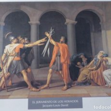 Arte: LÁMINA EL JURAMENTO DE LOS HORACIOS. JACQUES-LOUIS DAVID. Lote 233610910
