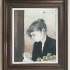 Arte: TOMÁS TORNÉ (TARRAGONA, 1954) - JOVEN CON MANZANAS.OLEO/TELA.FIRMADO.1983.. Lote 233649115