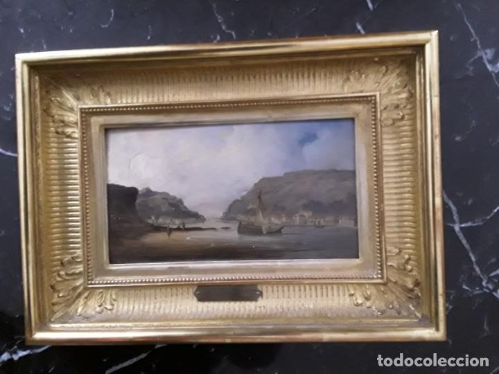 Arte: Goethals. Pintura de bahia de Pasajes en Guipuzcoa. Mediados del XIX. - Foto 2 - 233806050